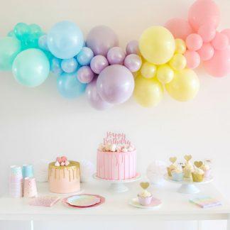 Balloon Garland DIY- Pastel