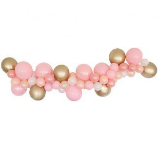 Balloon Garland DIY - Pink & Gold