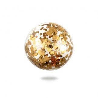Gold Confetti Beach Ball