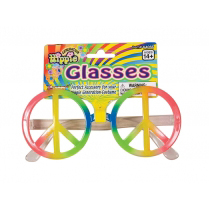 Rainbow Peace Sign Glasses