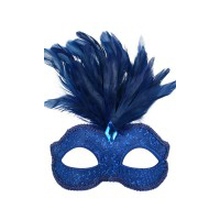 Blue with feathers Eye Mask
