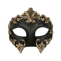Gold & Black Eye Mask