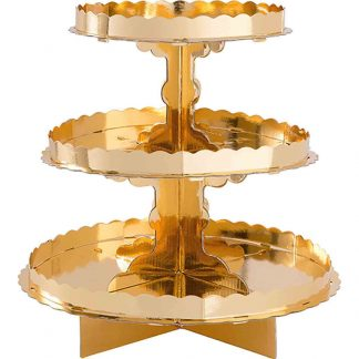 3 Tier Cupcake Treat Stand Gold