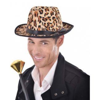 Gangster Hat Leopard Skin
