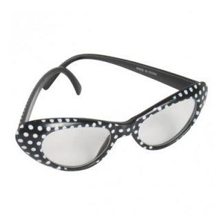 60's Glasses Black/White