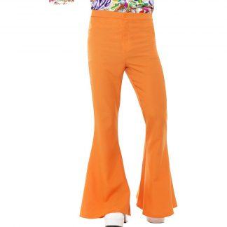 Flared Trousers - Orange